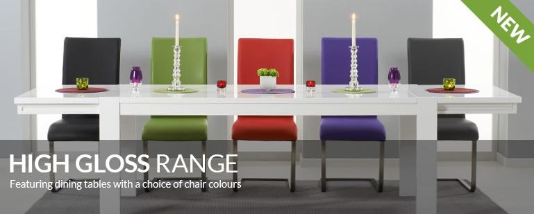 High Gloss Dining Tables & Chair Sets | Oak Furniture Superstore Throughout Most Popular Gloss Dining Tables Sets (Image 17 of 20)