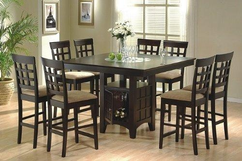 High Top Dining Table With 8 Chairs – Island Kitchen With Regard To Recent 8 Chairs Dining Sets (View 11 of 20)