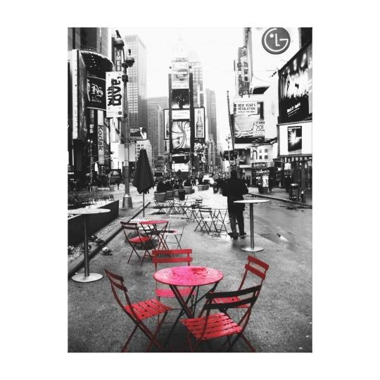 Holiday Sale! Times Square Black White Red Canvas | Zazzle Regarding Black And White New York Canvas Wall Art (Image 8 of 20)