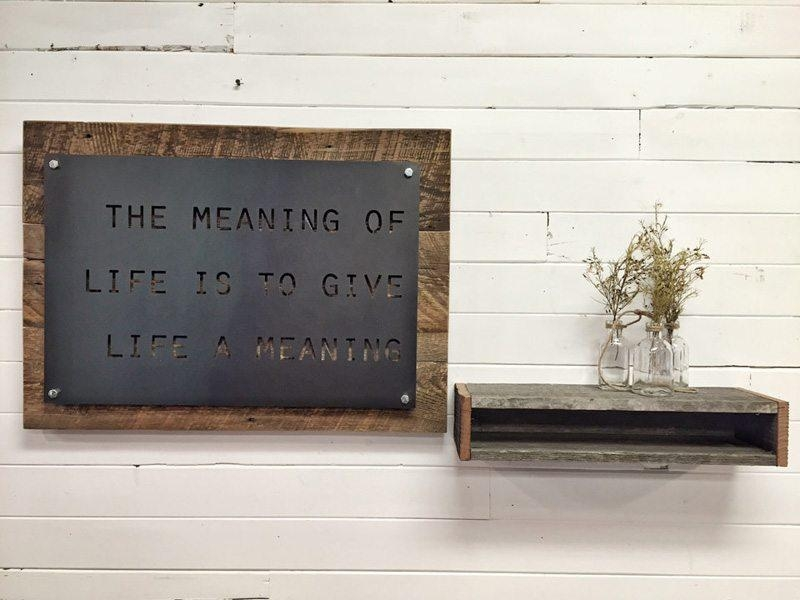 Home Accessories – Grain Designs Inside Metal Wall Art Quotes (Image 8 of 20)