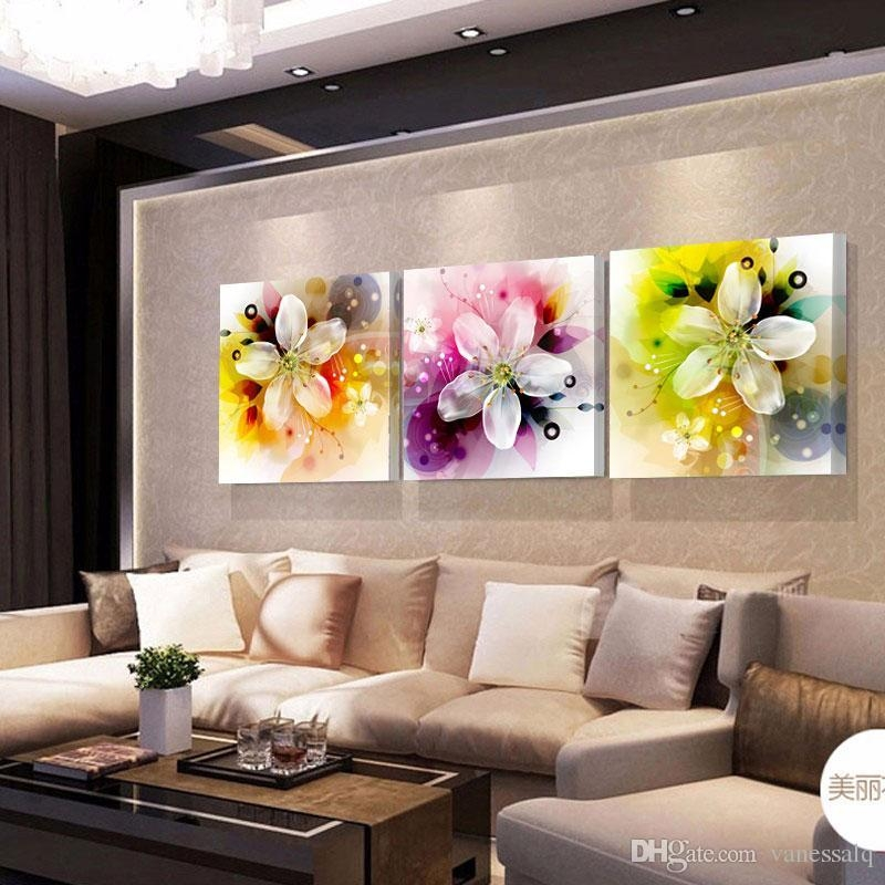 Home Decor Print Canvas Oil Painting Vintage Flower Wall Art Inside Flower Wall Art Canvas (Image 11 of 20)