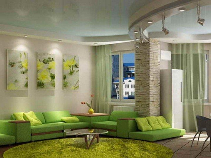 Home Decorating: Green Walls Of Living Room – Pretty Designs For Wall Art For Green Walls (Image 16 of 20)
