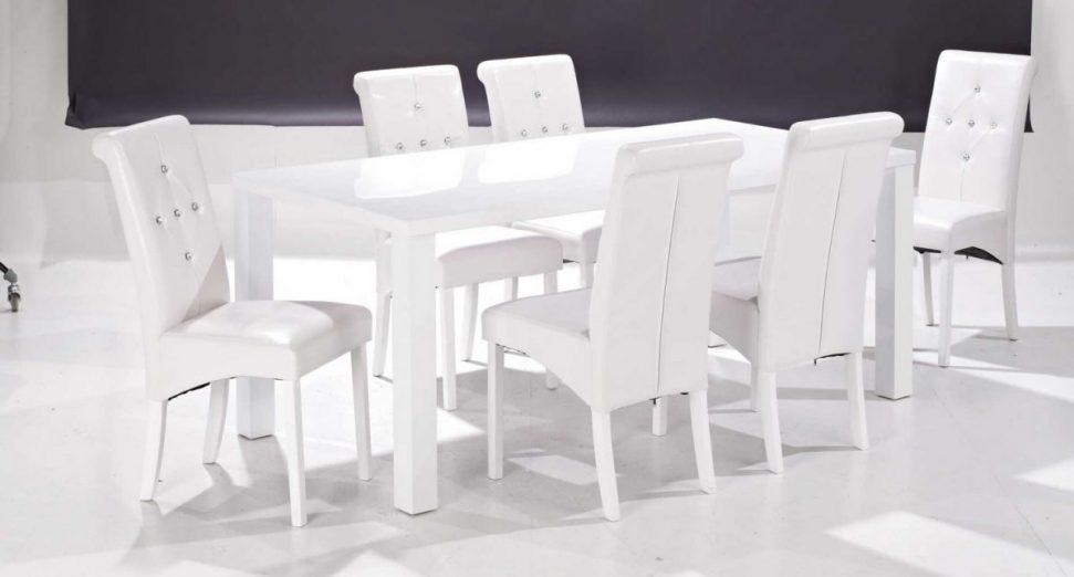 Home Design : Appealing White Dining Table And 6 Chairs Home Intended For Current White Dining Tables And Chairs (Image 10 of 20)