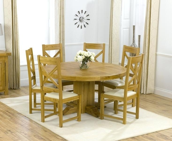 Home Design : Cool Dining Table And 6 Chairs Ebay Solid Oak Round Intended For Most Popular Solid Oak Dining Tables And 6 Chairs (Image 13 of 20)