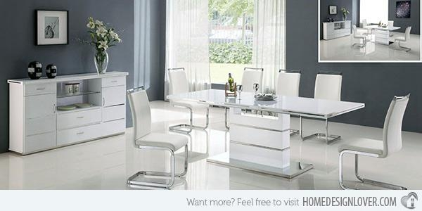 Home Design: Refreshingly Neat 15 White Dining Sets Throughout Most Recently Released White Dining Suites (Image 14 of 20)