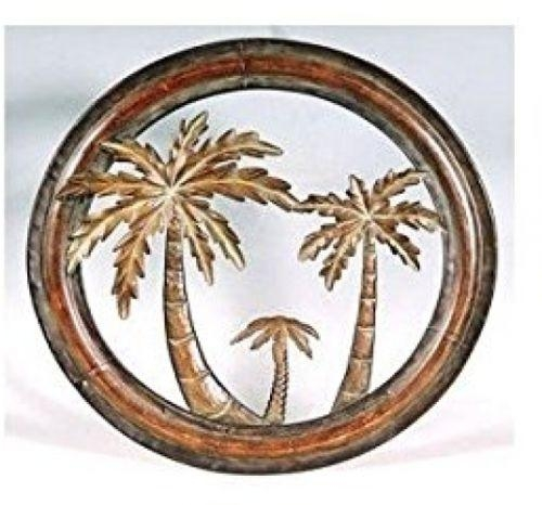 Home Metal Wall Art Sculpture Decor Decoration Palm Tree Life Inside Palm Tree Metal Wall Art (View 9 of 20)