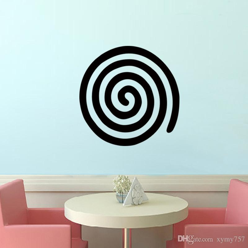 Hot Sale Team Logo Spiral Vinyl Wall Sticker Decal Art Deco Mural For Art Deco Wall Decals (Image 14 of 20)