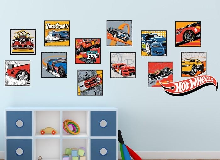 Hot Wheels Classic Wall Decal Set With Regard To Hot Wheels Wall Art (Image 11 of 20)