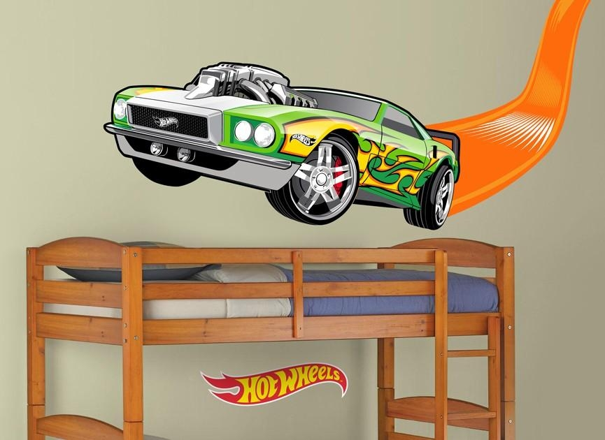 Hot Wheels Flame Car Wall Decal Within Hot Wheels Wall Art (Image 12 of 20)