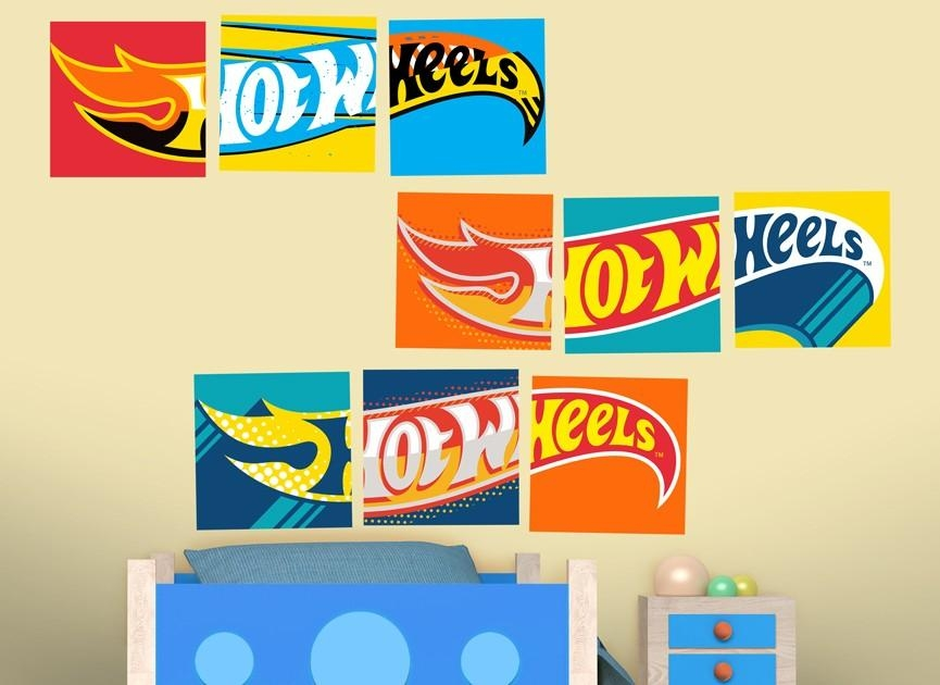 Hot Wheels Logos Wall Decal For Hot Wheels Wall Art (Image 13 of 20)