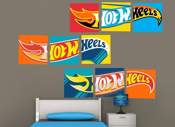 Hot Wheels Logos Wall Decal Regarding Hot Wheels Wall Art (Image 14 of 20)