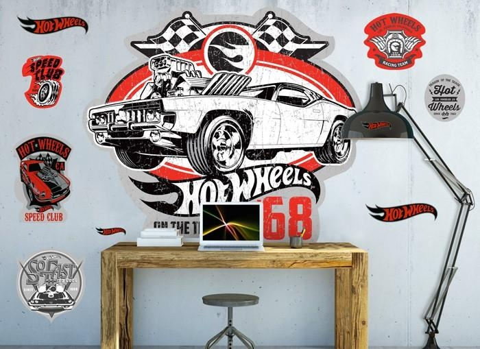 Hot Wheels Vintage 68 Wall Decal Inside Hot Wheels Wall Art (Image 15 of 20)