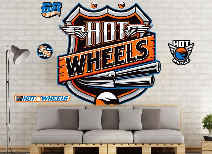 Hot Wheels Wall Decals And Wall Graphics (Image 16 of 20)