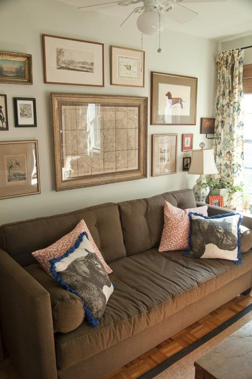 House Revivals: 17 Pretty Ways To Decorate With A Brown Sofa With Regard To Brown Sofa Decors (Image 14 of 20)