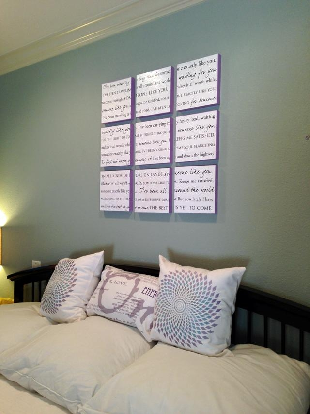 House To Home: Wedding Song Wall Art | Regarding Wall Art Over Bed (View 12 of 20)