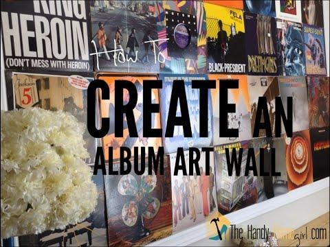 How To Create An Album Art Wall – Youtube With Regard To Album Cover Wall Art (Image 12 of 20)
