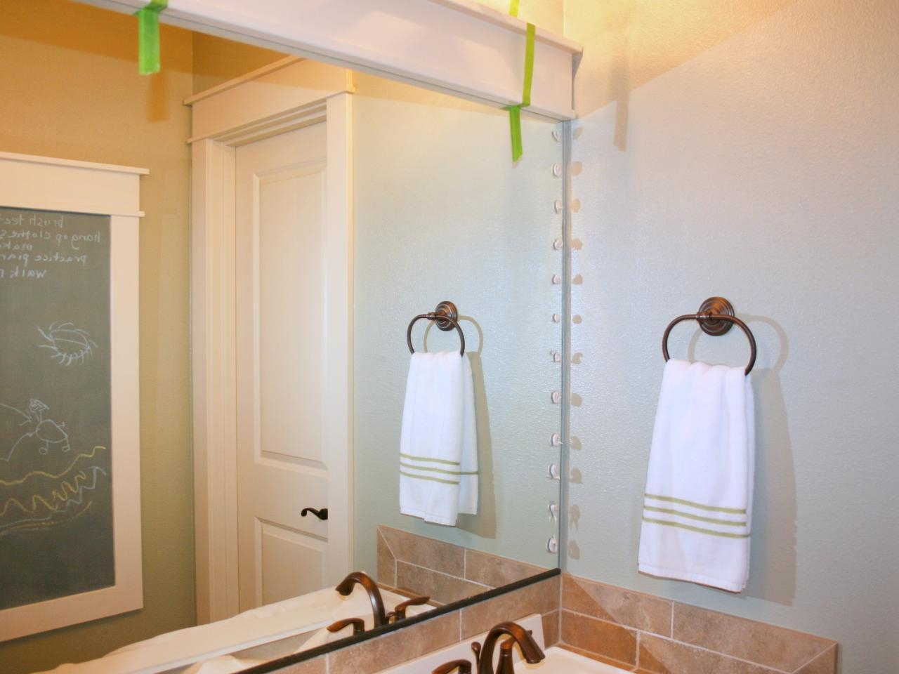 How To Frame A Mirror | Hgtv In Wall Mirrors For Bathrooms (Image 10 of 20)