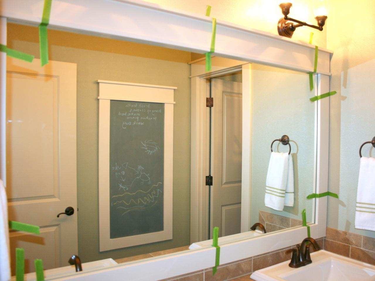 How To Frame A Mirror | Hgtv Within Large Mirrors For Bathroom Walls (Image 16 of 20)