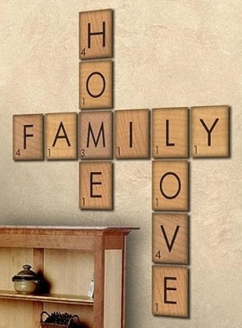 How To Make Large Scrabble Tiles | Diy Cozy Home In Scrabble Letter Wall Art (View 3 of 20)
