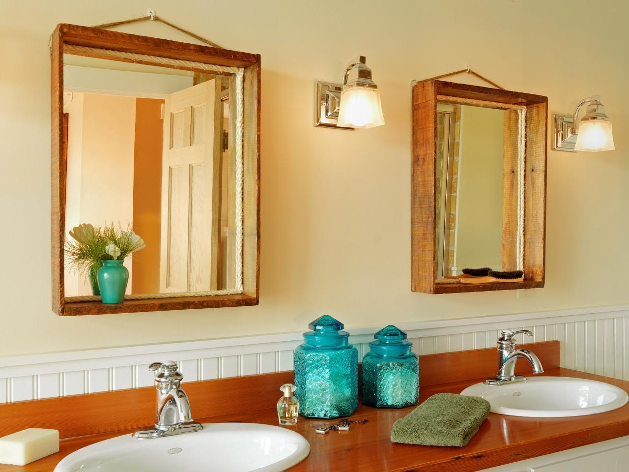 How To Turn A Wood Crate Into A Mirror Frame | How Tos | Diy Inside Vintage Wood Mirrors (Image 10 of 20)