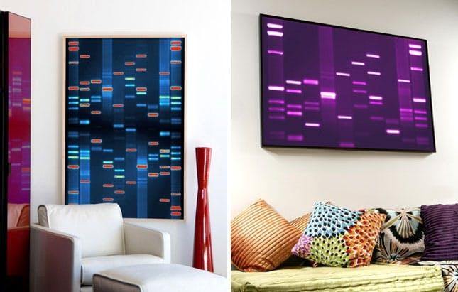 How To Turn Your Dna, Fingerprints + Kisses Into Wall Art | Brit + Co With Regard To Dna Wall Art (Image 19 of 20)