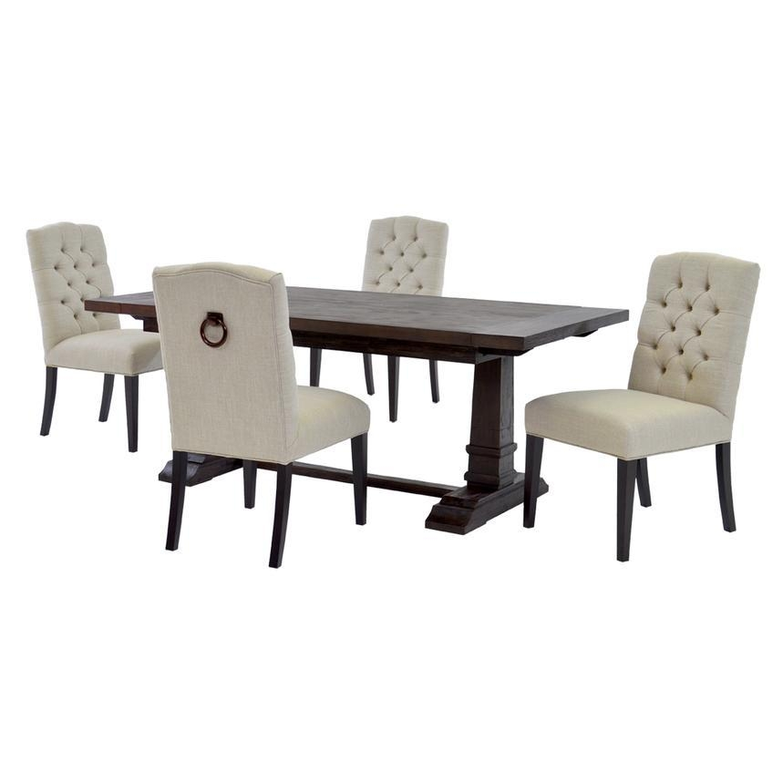 Hudson Cream 5 Piece Formal Dining Set | El Dorado Furniture With 2018 Hudson Dining Tables And Chairs (Image 8 of 20)