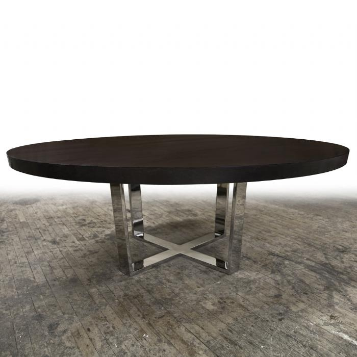 Hudson Furniture, Dining Tables, X Metal Base In Hudson Round Dining Tables (View 5 of 20)