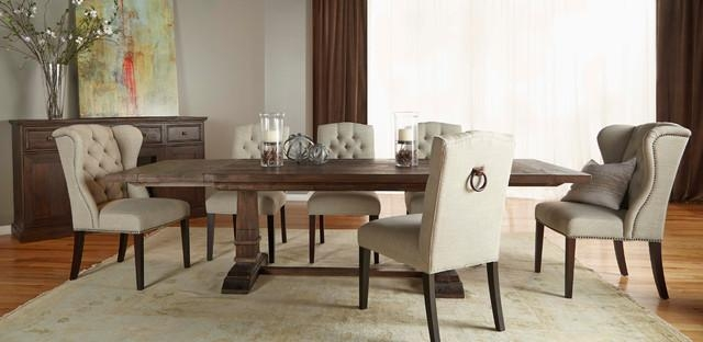 Hudson Rustic Java 5 Piece Formal Dining Set – Rustic – Dining Intended For Recent Hudson Dining Tables And Chairs (Image 15 of 20)