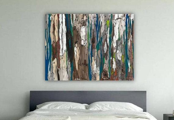 Huge Masculine Extra Large Wall Art Canvas Bedroom Decor With Regard To Teal And Brown Wall Art (Image 10 of 20)