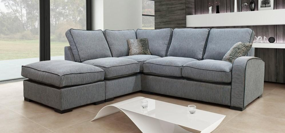 Hula Corner Lhf Formal Trinity Grey – Fabric Sofas – Sofas For Corner Sofas (Image 12 of 20)
