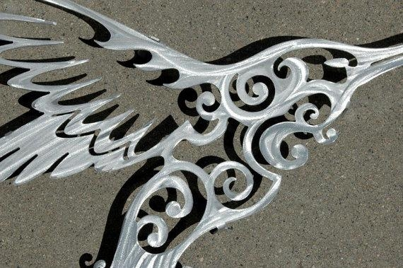 Hummingbird Metal Wall Art Metal Wall Decor Intended For Hummingbird Metal Wall Art (Image 14 of 20)