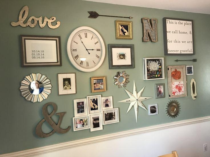 I Love The Different Picture Frames And Their Arrangements! | For  Throughout Family Wall Art