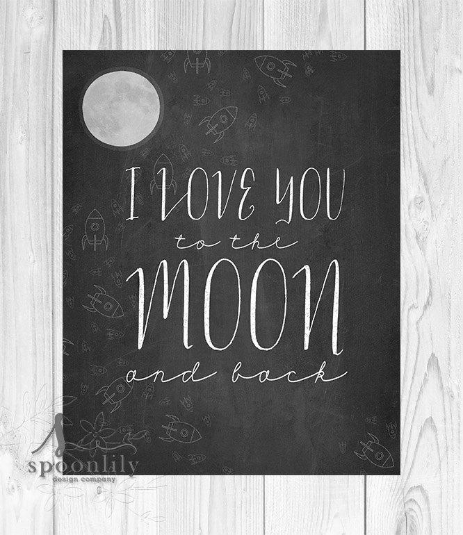 I Love You To The Moon And Back Baby Shower Gift Nursery Intended For Love You To The Moon And Back Wall Art (Image 10 of 20)