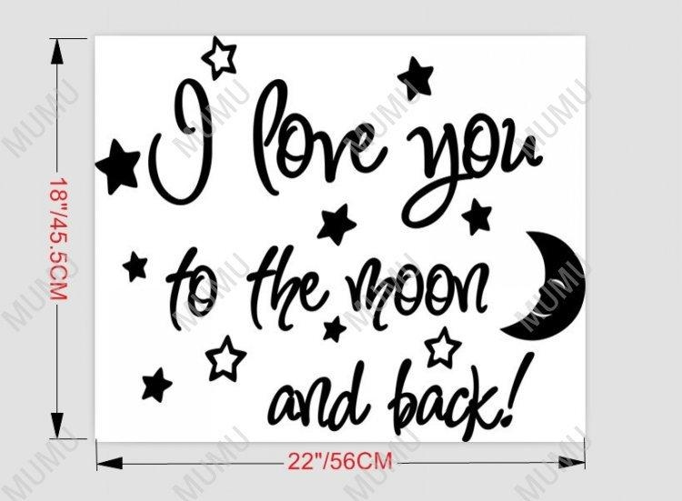 I Love You To The Moon And Back Cute Baby Nursery Wall Art Wall Pertaining To Love You To The Moon And Back Wall Art (Image 11 of 20)
