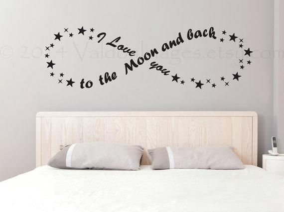 I Love You To The Moon And Back Infinity Wall Decal Living With Regard To Love You To The Moon And Back Wall Art (Image 12 of 20)