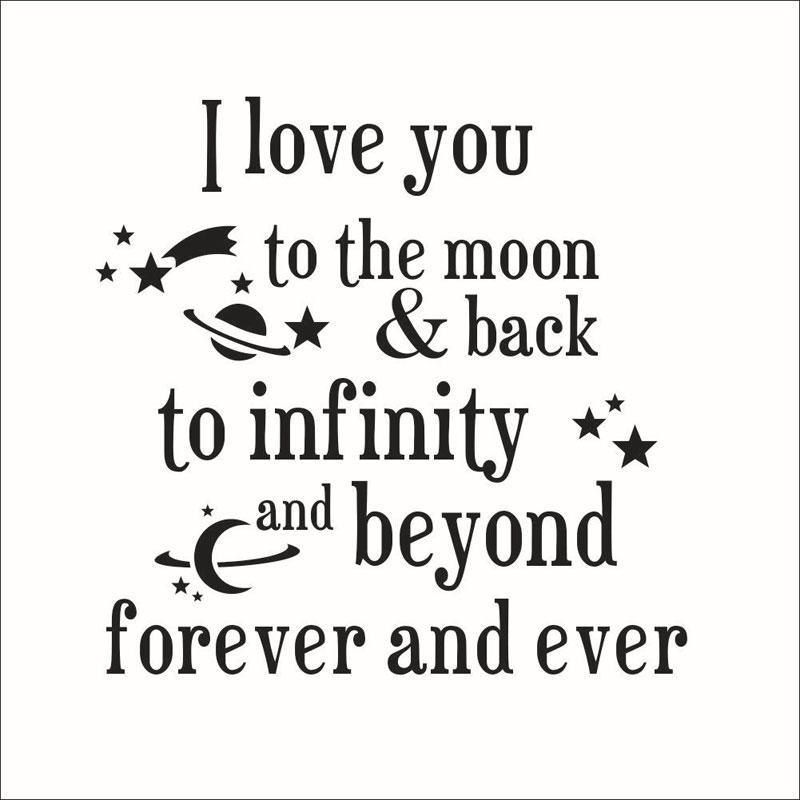 I Love You To The Moon And Back Quotes Wall Stickers New Arrivals In Love You To The Moon And Back Wall Art (Image 13 of 20)