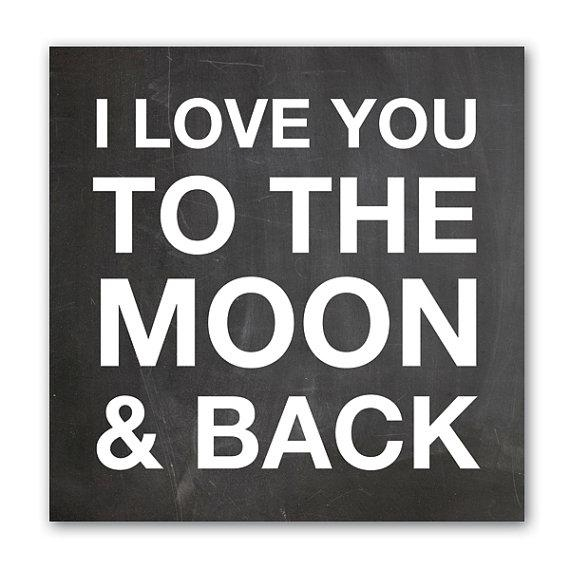 I Love You To The Moon & Back Wall Art Canvas Art With Regard To Love You To The Moon And Back Wall Art (Image 8 of 20)