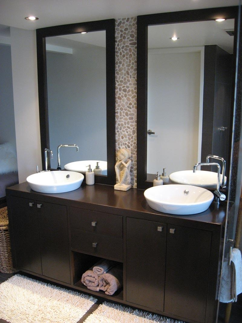 Ideas For Double Vanities Bathroom Design #25966 Throughout Double Vanity Bathroom Mirrors (Image 18 of 20)