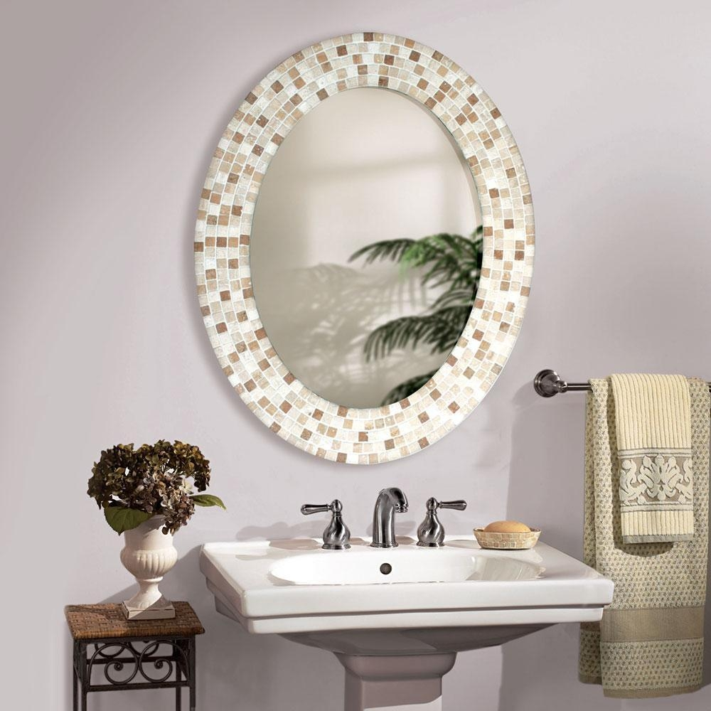 Ideas Oval Bathroom Mirrors Frame With Oval Bath Mirrors (Image 9 of 20)