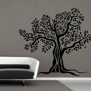 Ik45 Wall Decal Sticker Room Decor Wall From Elitesticker On Etsy Within Oak Tree Vinyl Wall Art (Image 16 of 20)