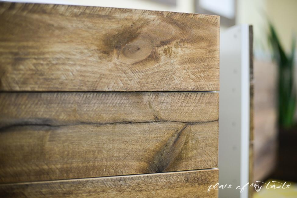 Ikea Hacks – Diy Reclaimed Wood Buffet For Ikea Giant Wall Art (Photo 19 of 20)