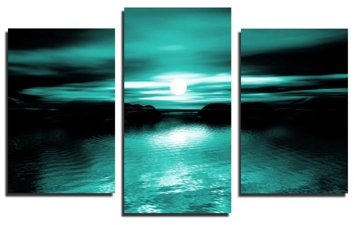 Image Gallery Teal Artwork For Teal And Black Wall Art (Image 15 of 20)