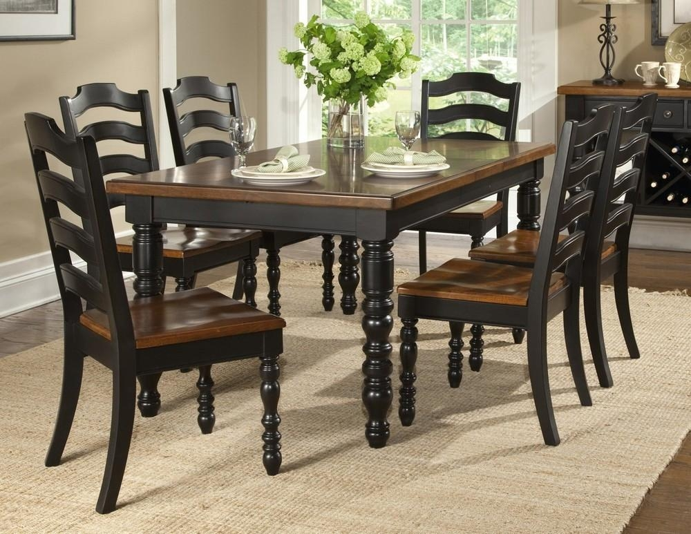Imposing Ideas Dining Room Table And Chairs Set Neoteric Design Intended For Most Recently Released Dark Wood Dining Tables And 6 Chairs (Image 9 of 20)