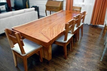 Impressive Solid Wood Dining Table With Additional Inspiration To With Regard To Current Solid Oak Dining Tables (Image 13 of 20)