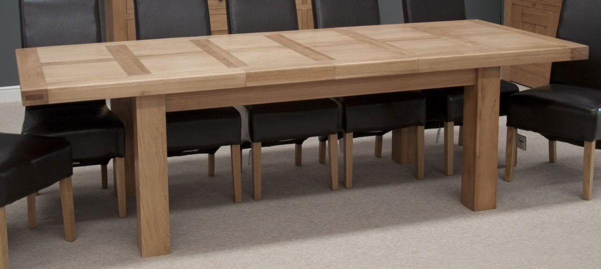Incredible Ideas Extendable Dining Table Seats 12 Nice Large Oak With Best And Newest Oak Extending Dining Sets (Image 9 of 20)