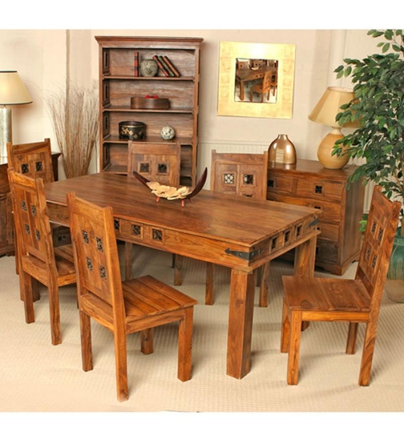 Indian Dining Table 6 Chairs (Image 7 of 20)