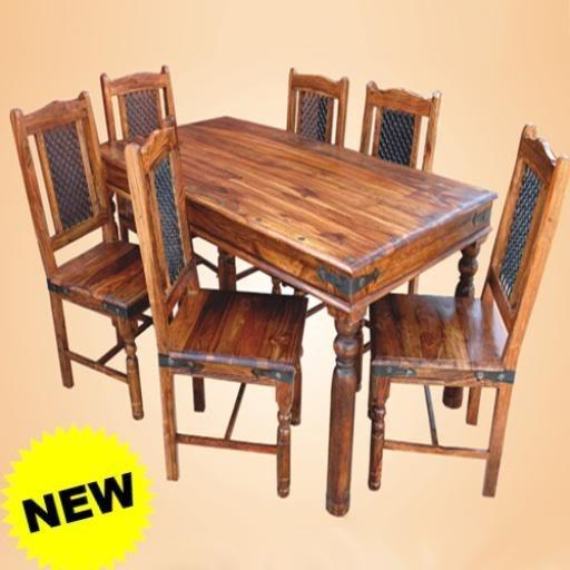 Indian Dining Table And Chairs #4643 For Most Recently Released Sheesham Dining Tables And 4 Chairs (Image 8 of 20)