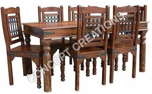 Indian Wooden Dining Table And Chairs (Image 17 of 20)