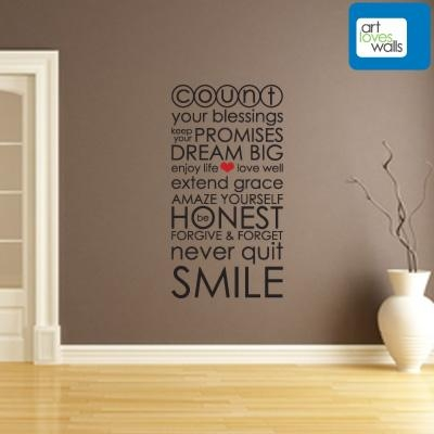 Inexpensive Wall Decorations | Art Loves Walls With Inspirational Wall Decals For Office (Image 10 of 20)