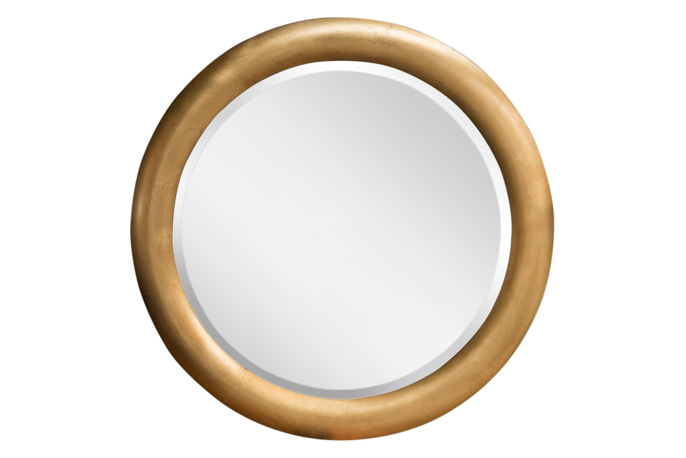 Infinity Round Mirror Gold Leaf Pertaining To Gold Oval Mirrors (Image 11 of 20)